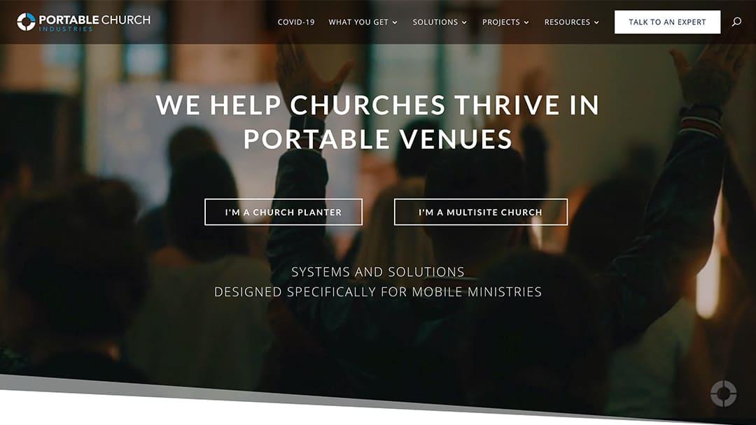 Portable Church StoryBrand Website Example Agency Boon Marketing