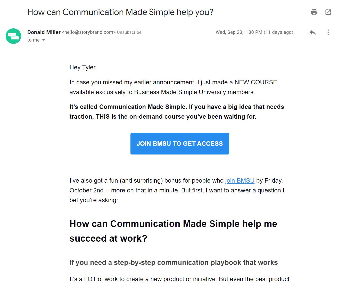 StoryBrand Marketing Framework image 2