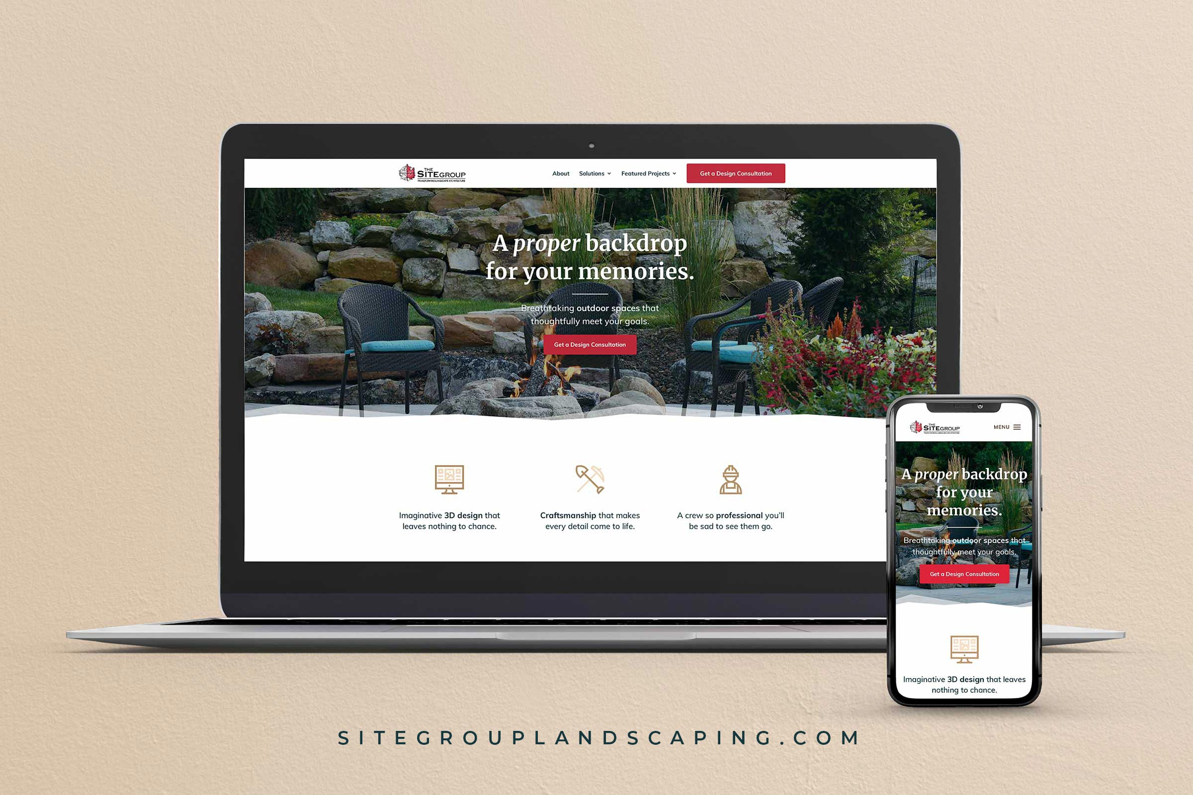 The Site Group StoryBrand Website Examples by Agency Boon